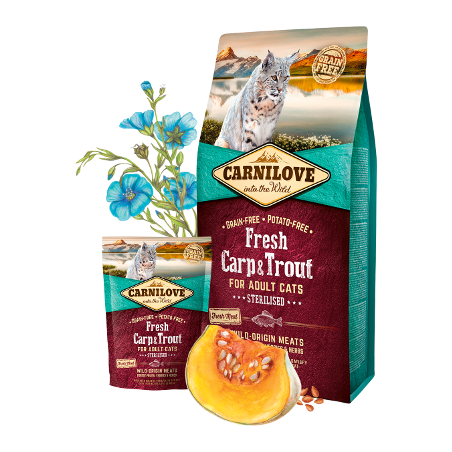 Carnilove Chat - Carpe et Truite fraiches (2 kg ou 6 kg)