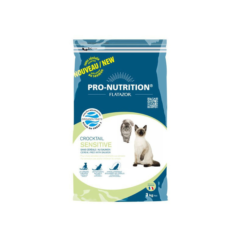 Pro-Nutrition Flatazor Crocktail Sensitive Sans Céréale (0,4 kg ou 3 kg)