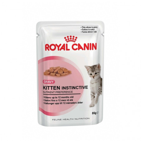 Royal Canin - Kitten Instinctive en Sauce pour Chat (12 x 85g)