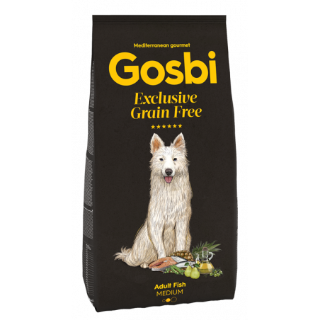 Gosbi - Grain Free - Adulte Medium Poisson (3 kg ou 12 kg)