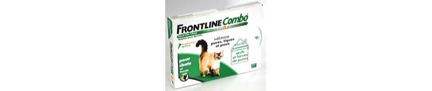 Frontline Combo et Frontline Spot On pour Chats chez Croqadom